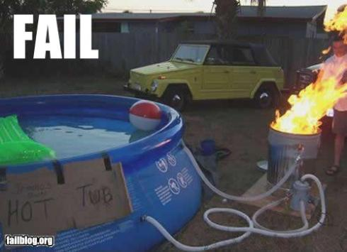 hot tub fail
